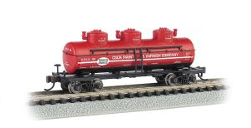 Bachmann Trains 17156 N Scale 40' Triple Dome Tank Car Cook Paint & Varnish Co.