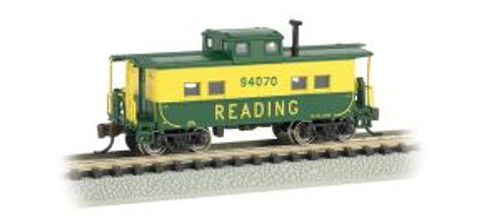 Bachmann Trains 16857 N Scale NE Steel Caboose RDG #94070/yel&grn