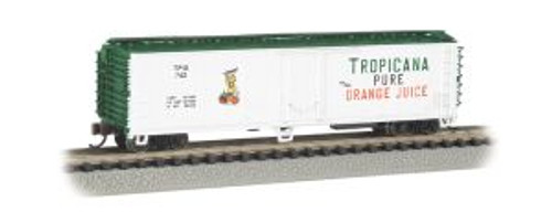 Bachmann Trains 17954 N Scale 50' Steel Reefer Tropicana/wht