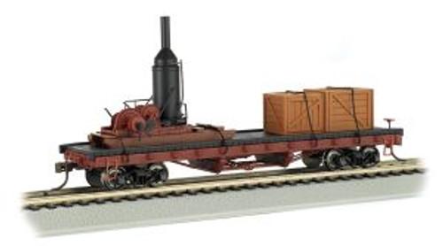 Bachmann Trains 18301 HO Scale 40' Flatcar w/Log Skidder