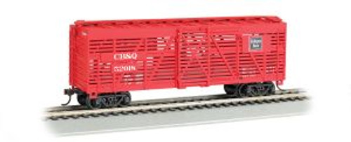 Bachmann Trains 18505 HO Scale 40' Stock Car CB&Q