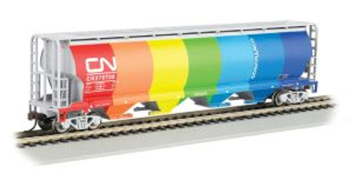 Bachmann Trains 19133 HO Scale 4-Bay Cyl.Hopper CN/Environment