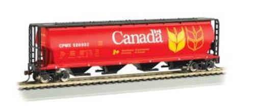 Bachmann Trains 19131 HO Scale 4-Bay Cyl.Hopper Canada Grain