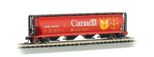 Bachmann Trains 19181 N Scale 4-Bay Cyl.Hopper Canada Grain