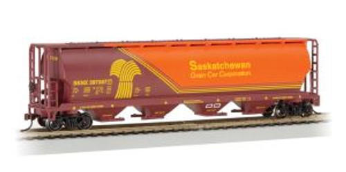 Bachmann Trains 19140 HO Scale 4-Bay Cyl.Hopper Saskatchewan/Wheat Herald