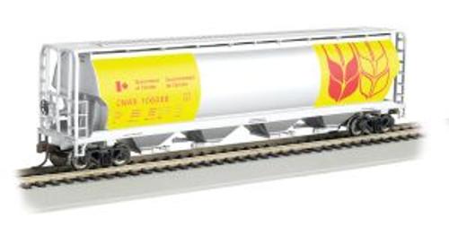 Bachmann Trains 19136 HO 4-Bay Cyl.Hopper Gov't of Canada/yel
