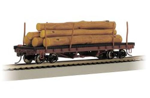 Bachmann Trains 18849 HO Scale 40' Log Car/1935-1960