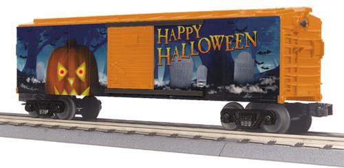 MTH RailKing 30-74934 Jack-O-Lantern Box Car with Glowing LEDs O Gauge