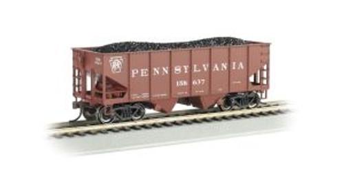 Bachmann Trains 19507 HO Scale 55t 2-Bay Outside Braced Hopper PRR