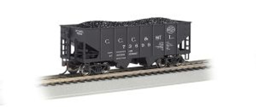Bachmann Trains 19510 HO Scale 55t 2-Bay Outside Braced Hopper NYC/Big Four