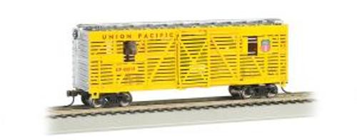 Bachmann Trains 19701 HO Scale 40' Animated Stock Car w/Horses UP