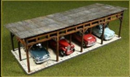 Bachmann Trains 39102 HO Scale Lasercut Car Shed Kit