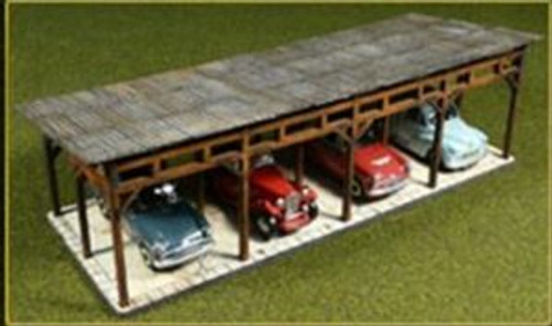 Bachmann Trains 39102 HO Scale Lasercut Car Shed Kit