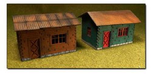 Bachmann Trains 39101 HO Scale Lasercut Cottage Kit/2pk