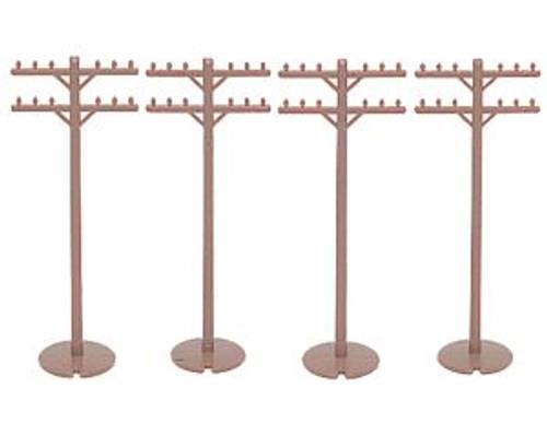 Bachmann Trains 42102 HO Scale Telephone Poles/12pc