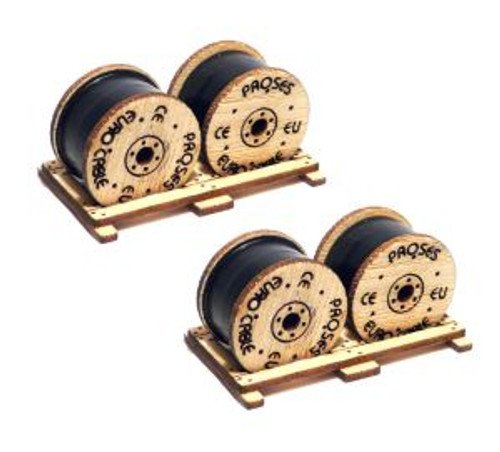 Bachmann Trains 39108 HO Scale Cable Drum Load/2pk