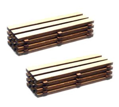 Bachmann Trains 39107 HO Scale Pallets: Timber Load/2pk