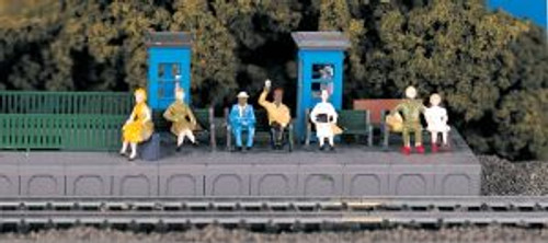 Bachmann Trains 42342 HO Scale People Sitting Passengers