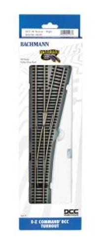 Bachmann Trains 44140 HO Scale EZ Track DCC #4 RH Switch/1cd