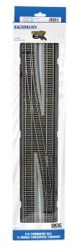 Bachmann Trains 44137 HO Scale EZ Track DCC NS #6 LH Crossover/1cd
