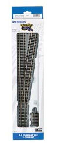 Bachmann Trains 44136 HO Scale EZ Track DCC NS #6 RH Switch/1cd