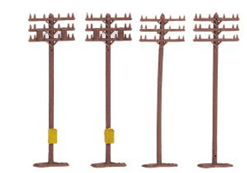 Bachmann Trains 42506 N Scale Telephone Poles/12pc