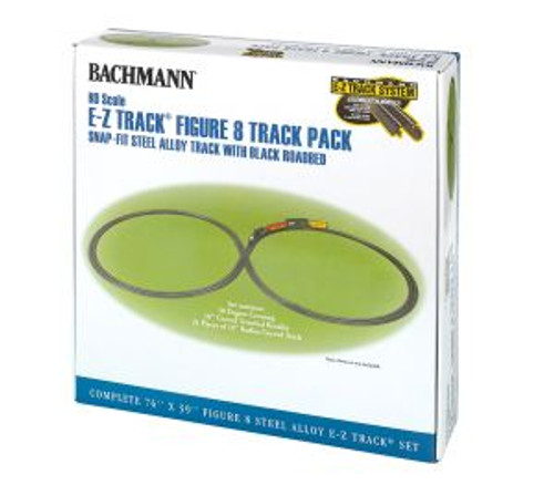 Bachmann Trains 44487 HO Scale EZ Track Steel Figure 8 Track Pack
