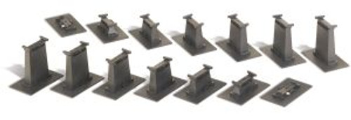 Bachmann Trains 44471 HO Scale EZ Track Graduated Pier Set/14pc