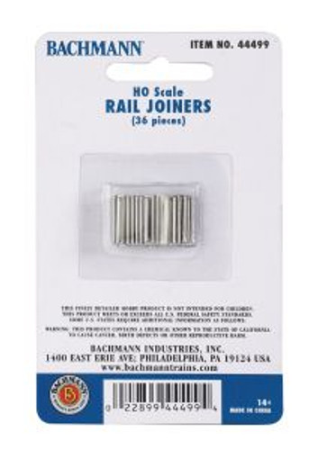 Bachmann Trains 44499 HO Scale EZ Track Rail Joiners/36cd