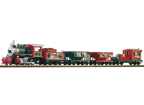 Piko 38122 Christmas Freight Starter Set Lights, Sound, Smoke G Gauge Model Train Set