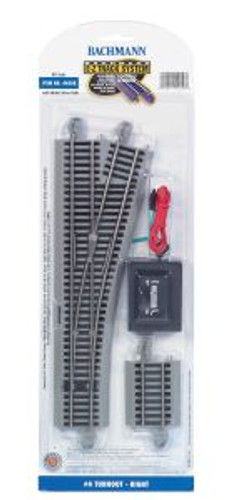 Bachmann Trains 44558 HO Scale EZ Track NS #4 Switch RH