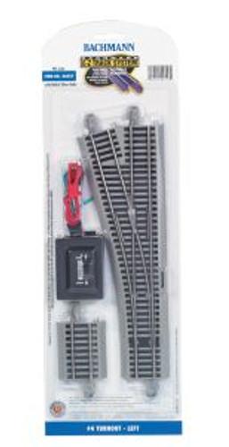 Bachmann Trains 44557 HO Scale EZ Track NS #4 Switch LH