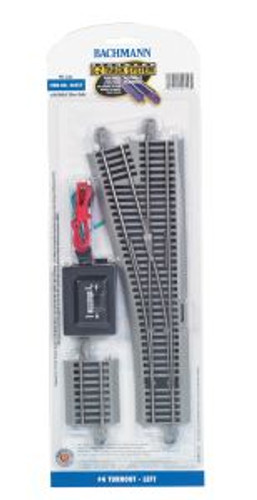 Bachmann Trains 44557 HO Scale EZ Track NS #4 Switch LH