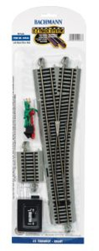 Bachmann 44566 HO Scale EZ Track NS #5 RH Switch/1cd