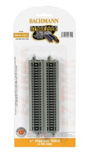 Bachmann Trains 44811 N Scale EZ Track 5Straight/6cd