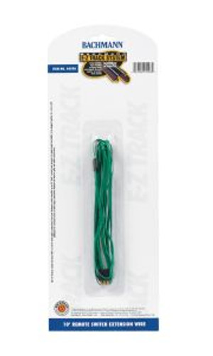 Bachmann Trains 44598 HO Scale EZ Track 10' Green Switch Ext.Wire/1pc