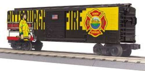 MTH Trains 30-74907 O Gauge Pittsburgh Fire & Rescue Boxcar