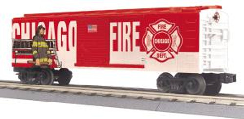 MTH Trains 30-74910 O Gauge Chicago Fire Department Boxcar