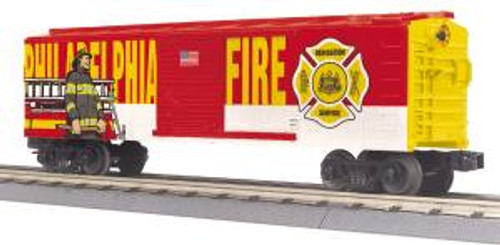 MTH Trains 30-74911 O Gauge Philadelphia Fire Department Boxcar