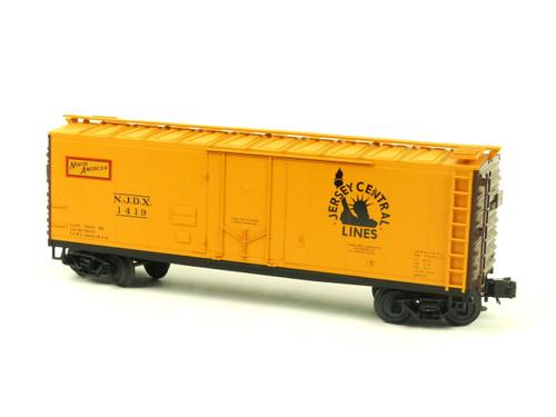 Atlas O Trainman 0527-1 Jersey Central 40' Plug Door Box Car 3 Rail