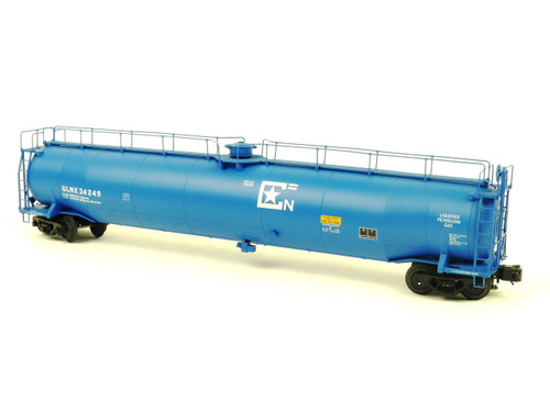 Atlas Big O Rolling Stock 6411-2 GLNX #34249 33,000 Gallon Tank Car 3 Rail