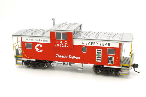 Atlas Big O Rolling Stock 7629 Chessie Safety #5 EV Caboose C & O #903282 2 Rail