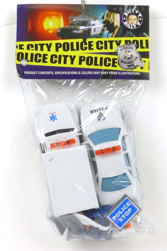 Billy V Toys Plastic Police City Officers Car Rescue Vehicle Paramedics 45000A