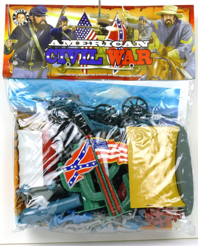 Billy V Toy Soldiers American Civil War Bagged Plastic Toy Soldiers Set 1/32 Scale