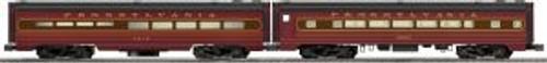 Lionel Trains 6-25760 O Gauge PRR Diner/Coach Psg.Cars/2pk