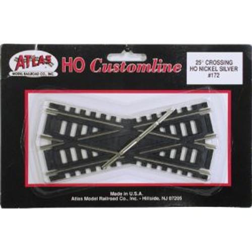Atlas Trains 172 HO Scale HO Code 100 25* Crossing