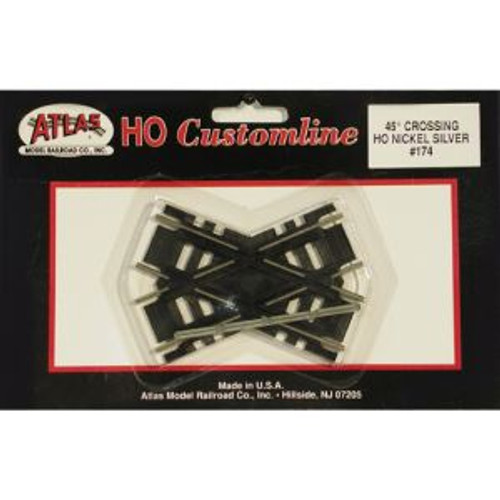 Atlas Trains 174 HO Scale HO Code 100 45* Crossing