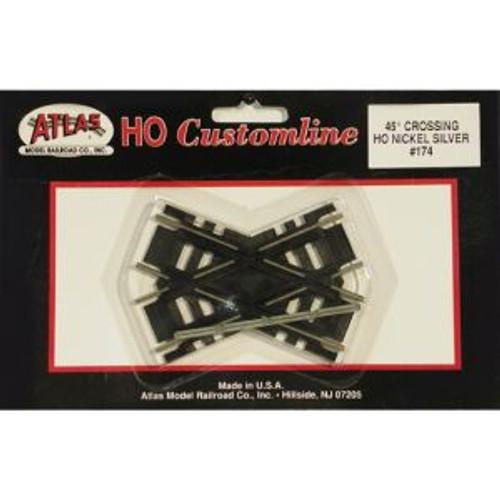 Atlas Trains 174 HO Scale HO Code 100 45* Crossing