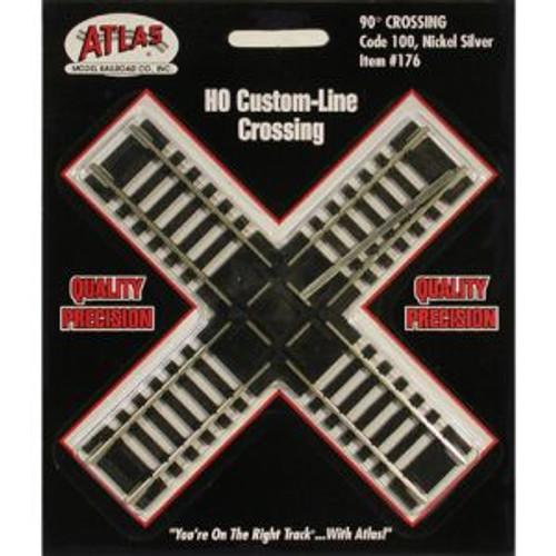 Atlas Trains 176 HO Scale HO Code 100 90* Crossing