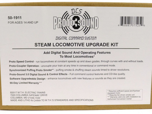 MTH 50-1911 Proto-Sound 3.0 Steam Locomotive Upgrade Kit